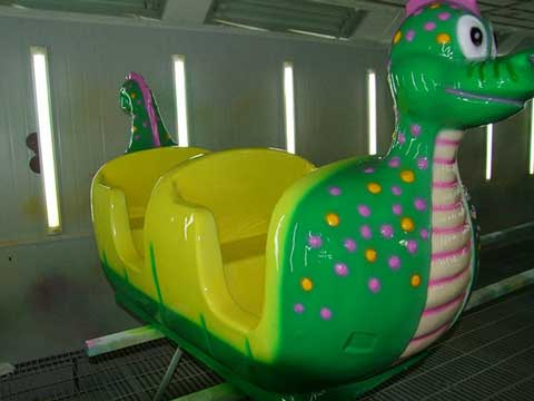 Beston roller coaster car with slide worm theme