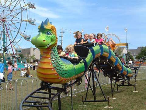 Kids Roller Coaster With Slide Dragon Theme