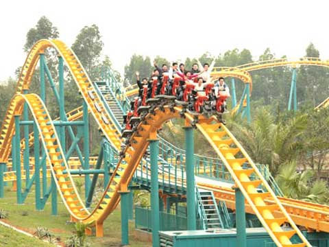 Thrill flying roller coaster ride for sale