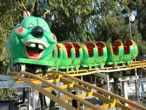 Small Roller Coaster Slide Worm For Kids