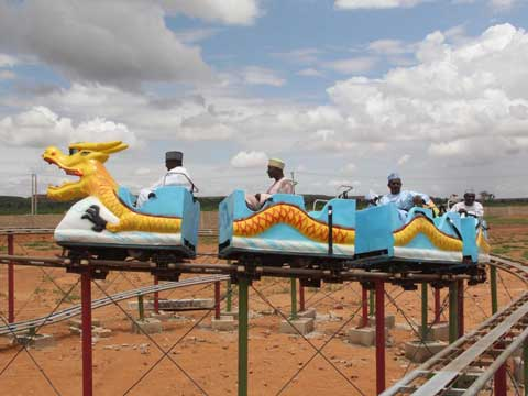 Mini theme park kids roller coaster for sale