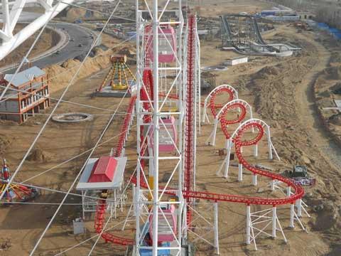 3 ring roller coaster track