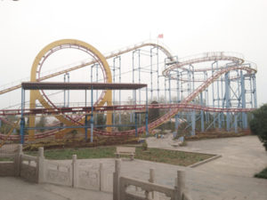 roller coaster track in our factory