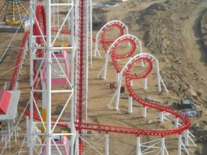 24 Passengers 3 Ring Roller Coaster for Sale