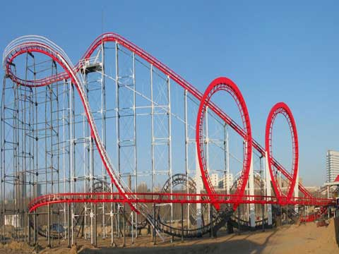 3 Ring Roller Coaster for Sale