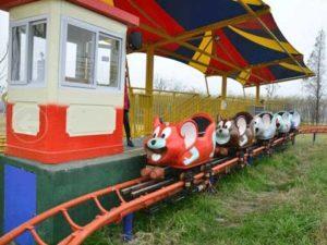 Kiddie Wild Mouse Roller Coaster Car