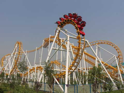 Medium Sized Inverted Roller Coaster